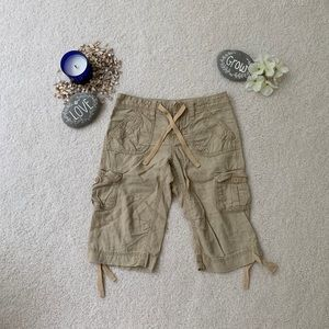 Old Navy Girls Tan Capris